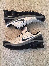 Nike Shox Turbo White Black Grey Silver Blue Women's 9.5 9 1/2 Running Sneakers