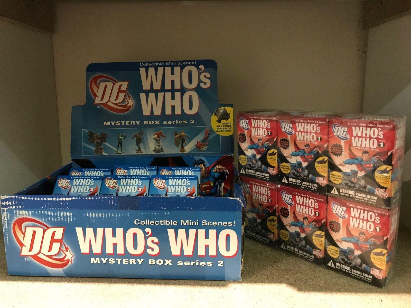 DC Who's Who Mystery Box Series  1&2 Sets - 14 Figures - Batman Superman Shazam