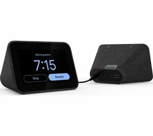 LENOVO-Smart-Clock-with-Google-Assistant-Black-Currys