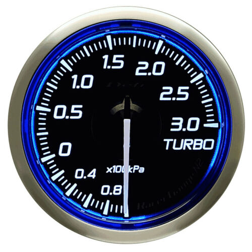 Defi 60MM calibre 2 Bar Turbo Racer N2 Azul