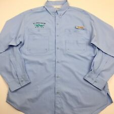 Too Cool New Licensed Columbia PFG Fishing Shirt BEER BASS Mens Size L /_/_/_S63