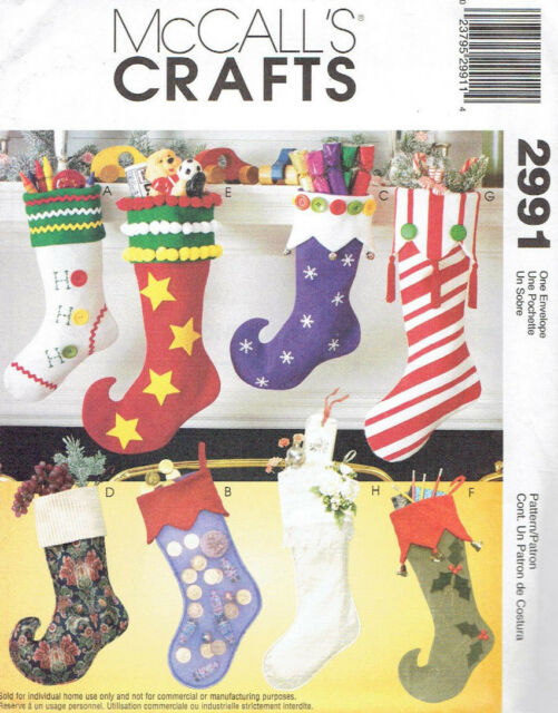 Christmas Stockings 8 Designs McCalls 2991 Sewing Pattern | eBay