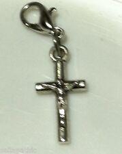 Cross Antiqued Silver Alloy  Charm Bookmark Bracelet Scrapbooking