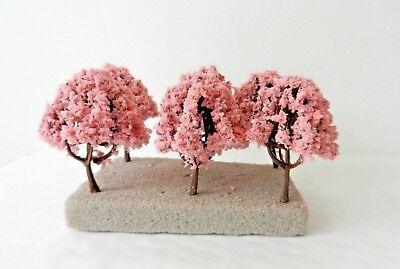 Candido 10 X Pink Blossom Model Trees 6 Cm Scenery For Model Railway N / Z Scale Alleviare Reumatismi E Freddo