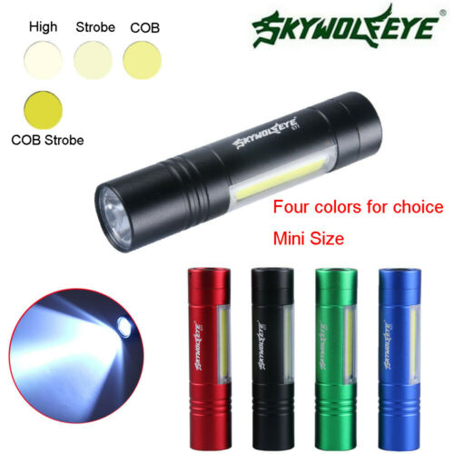 300LM AA//14500 XPE+SMD 4 Modes COB LED Torch Super Bright Outdoor Flashlight