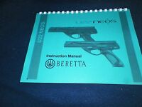 Beretta U22 Neos, Instruction Manual, 38 Pages