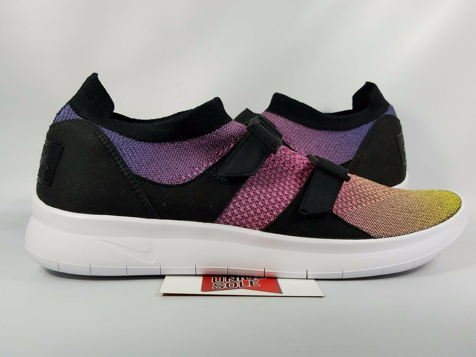 NEW Nike Air Sockracer Flyknit MULTICOLOR PINK YELLOW STRIKE 898021-700 sz 10