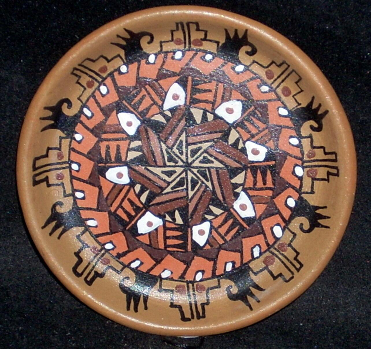 Miniature Southwest Native American Indian Gloria Bogulas Plate  7506