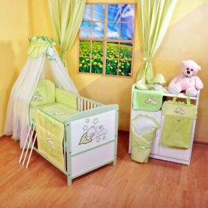 Kinderbett-Juniorbett-140x70-inkl-komplette-Bettwaesche-Set-nr-17-Weiss-Braun