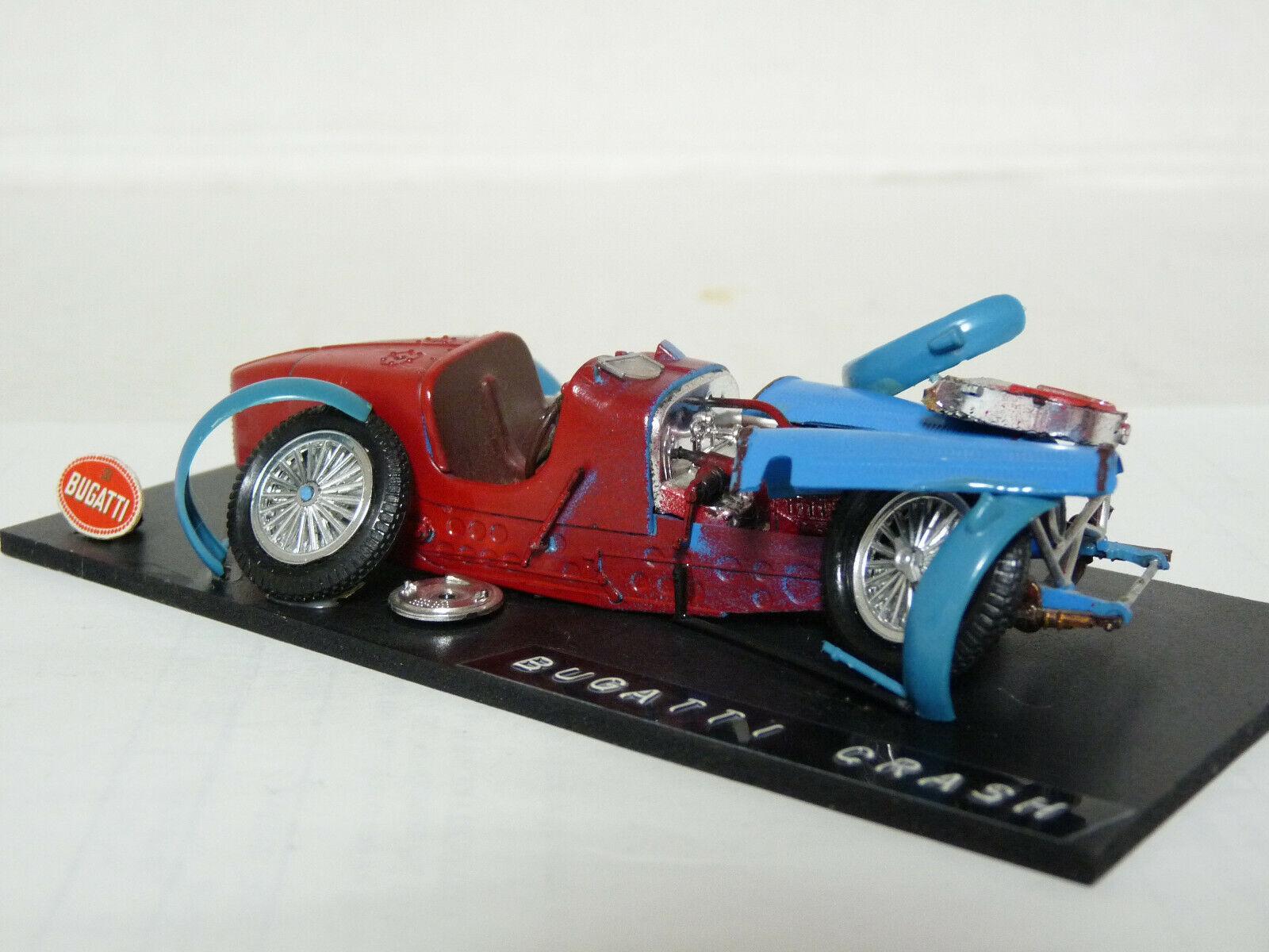 Unknown 1 43 1934 Bugatti Type Type Type 59 Crash Diorama Handmade Resin Model 9ea6ca