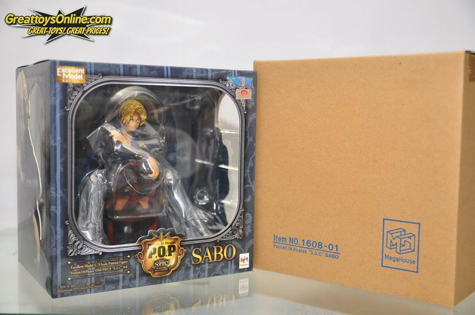 MEGAHOUSE ONE PIECE PORTRAITS OF PIRATES P.O.P SOC SABO PVC FIG. 4535123715631
