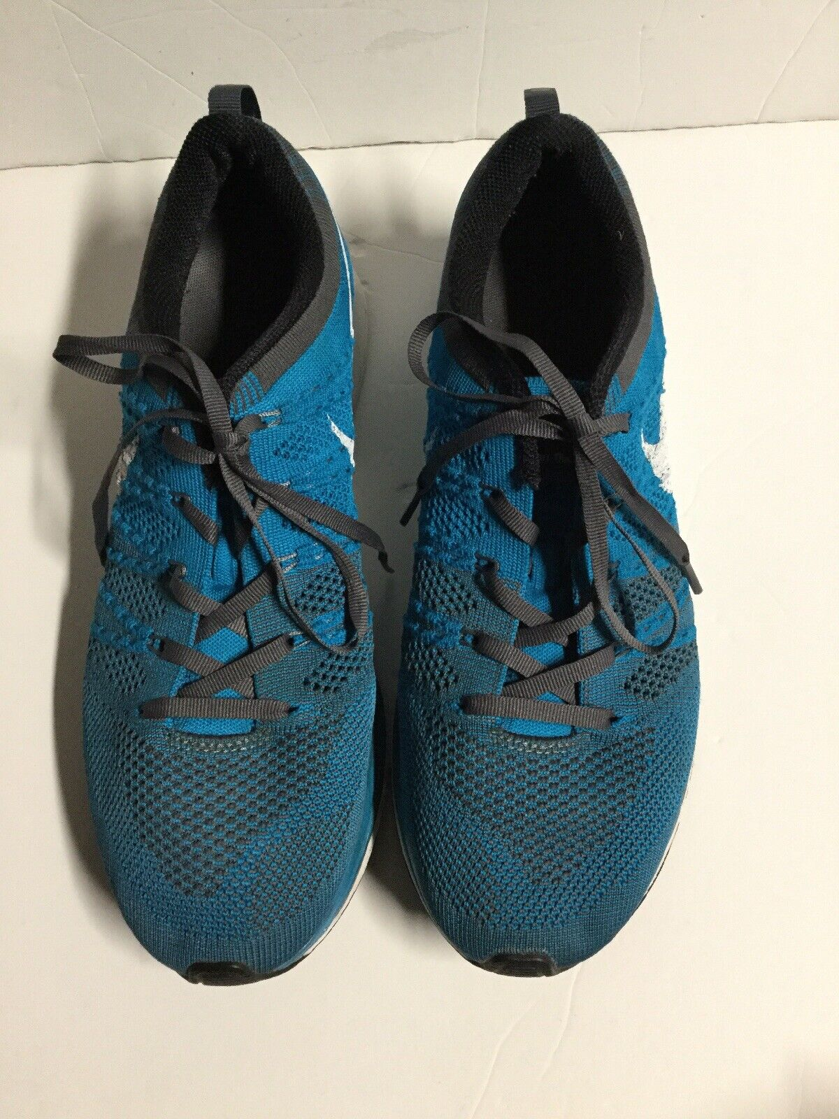 Nike Flyknit Trainer Size 9 Neo Turquoise Sneaker 532984-410.