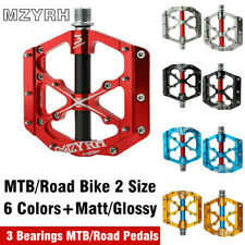 """Mzyrh Professional Cycling Pedals Cycling Flat 3 Bearing Pedals 9//16/"""" Alloy"""