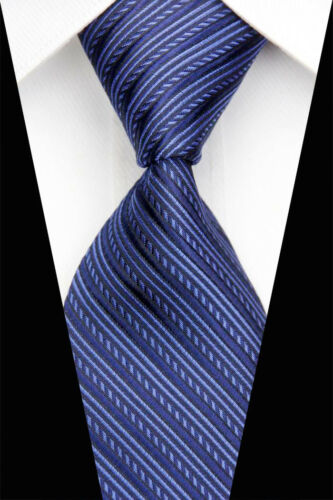 8 Styles Blue Pink Black Striped Men/'s Classic Silk Woven Necktie Business Ties