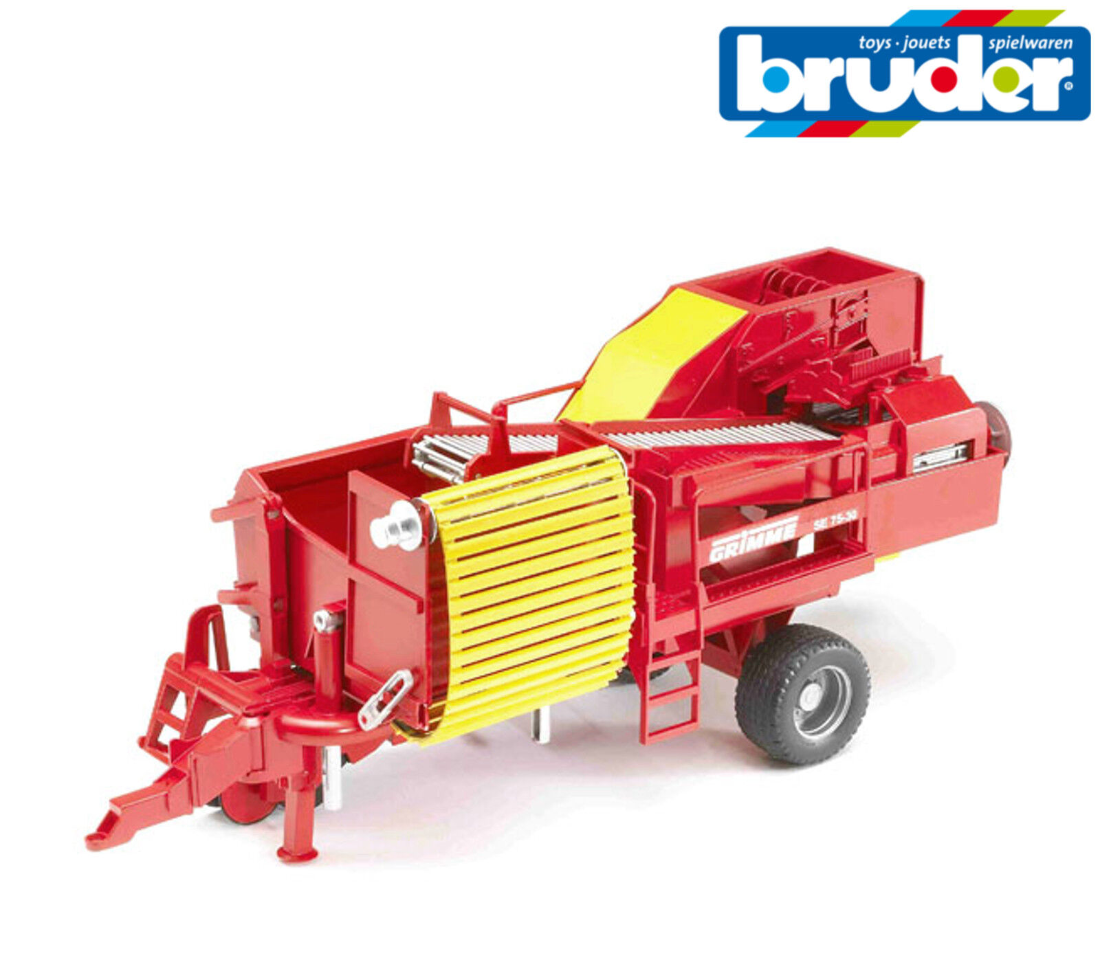Bruder Toys 02130 Grimme Potato Harvester Digger with 80 Potatoes 1 16 Scale
