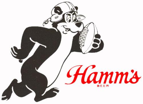 F HAMM/'S BEER  FOOTBALL BEAR BEER T SHIRT SIZES SMALL-XXXLARGE