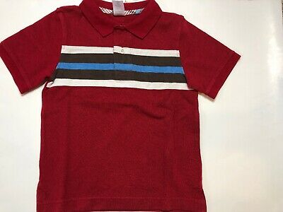 NWT GYMBOREE Boy Brown//Red//Blue//Ivory Polo Collared Short Sleeved Shirt SZ 7 *20