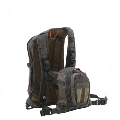 Aventik Fliegenfischen Rucksack Chest Pack Tasche Außen Sports Fischen Packung