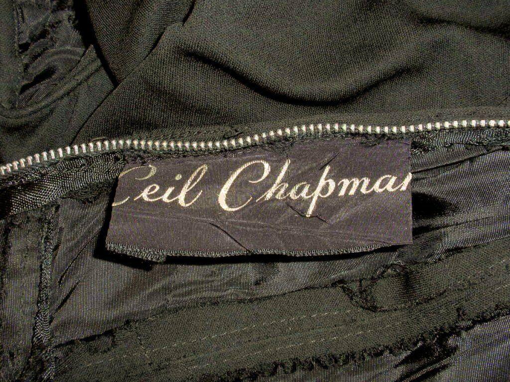 CEIL CHAPMAN Vintage Black Long Sleeve Jersey Coc… - image 9