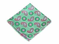 Lord R Colton Masterworks Pocket Square - Lost City Apple Green Silk - $75 on sale