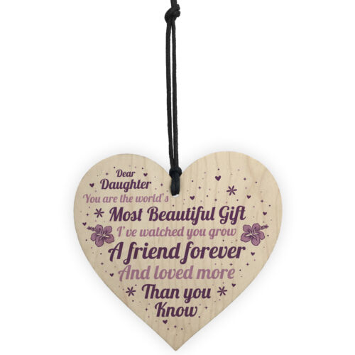 Daughter Gifts For Christmas Birthday Wood Heart Poem Daughter Gift From Mum Dad
