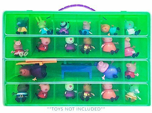 Life Made Better Peppa Pig Case, Toy Storage Carrying Box. Figures Playset Or...