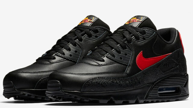 Nike Air Max 90 F Russian Floral Mens Shoe AO3152 001 BLACKUNIVERSITY RED sz 13