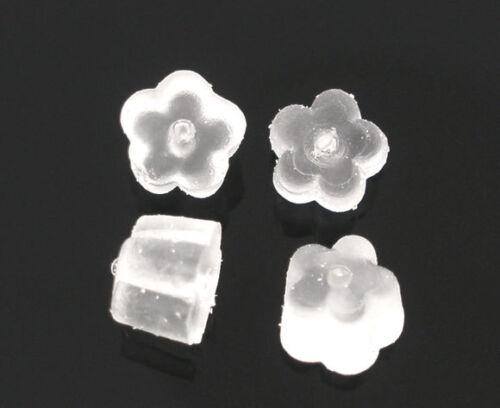 1000 Embouts arrières Boucles d/'Oreilles Fleur 4x4mm