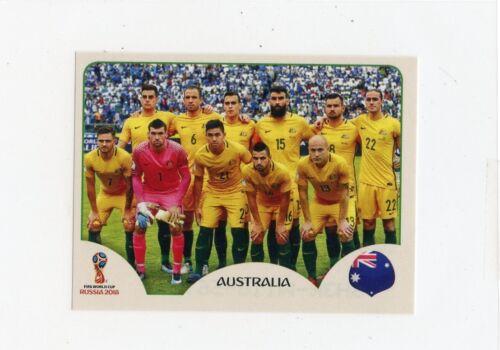 2018 PANINI STICKER FIFA WORLD CUP RUSSIA #213 AUSTRALIA TEAM PHOTO *49054