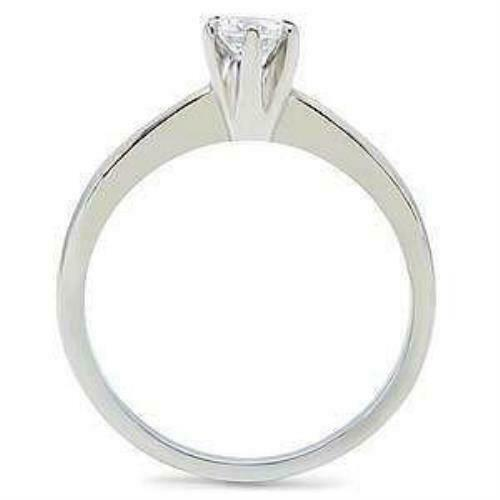 Maylene 0.50 ct Ice on fire Zircone Cubique Solitaire acier inoxydable Promise Ring