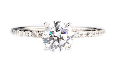 Fine Jewelry Fine Rings 585er Solide Echt Weiß Gold 2,10 Karat Tolle Runden Form Solitär Verlobung Ring In Short Supply