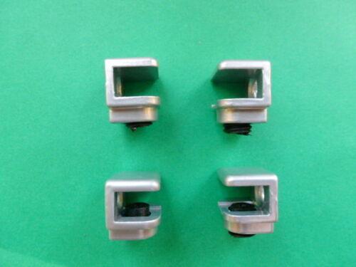 Bodenträger Alufarbig 4-8 mm 16 X  Glasbodenträger Zamag Glasbodenhalter