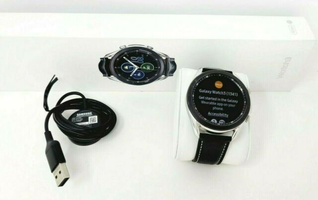 Samsung Galaxy Watch3 SM-R840 45mm Mystic Silver Stainless Steel / Black Leather