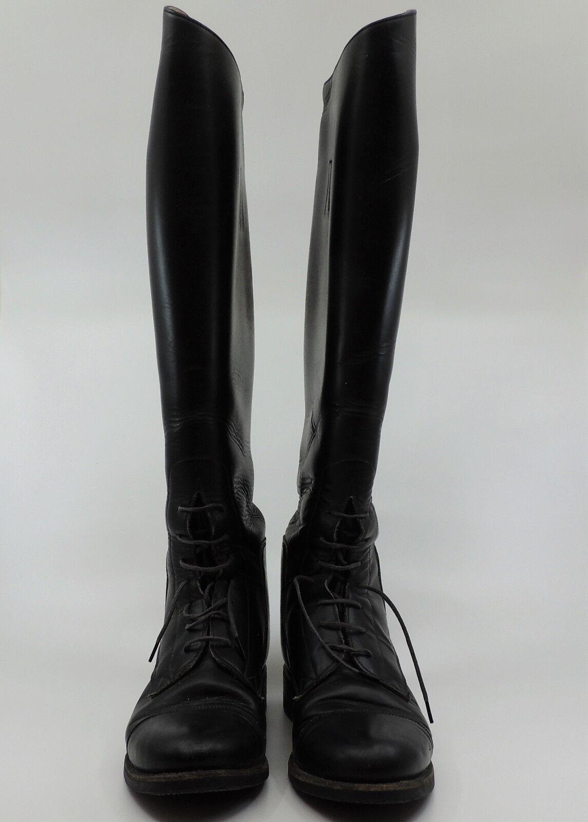 botas de cuero negro de montar a caballo de Effingham para mujer M WC ecuestre 2000L