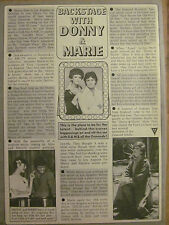 Donny and Marie Osmond, Full Page Vintage Clipping