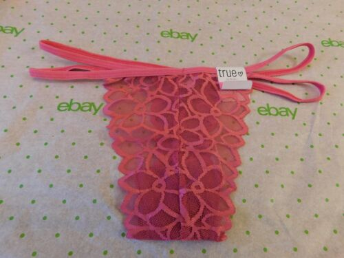 Details about  /Rue 21 Women/'s Thong Panties XS//SMALL Magenta Lace W Strappy Sides NEW