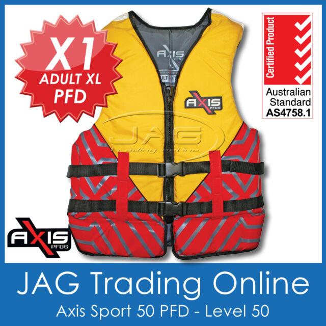 AXIS SPORT 50 ADULT EXTRA LARGE XL PFD2 LIFEJACKET 50N Life Jacket/Waterski XL