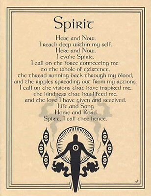 "Spirit  Evocation Parchment Poster  8 1/2"" by 11"""
