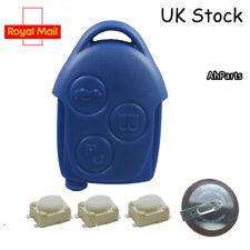 Ford Transit MK7 van 3 Botones azul remoto CLAVE FOB CASO servicio de reparación batería