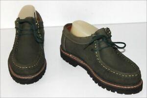 GREENFIELD-Chaussures-Vintage-Cuir-Vert-Chasse-T-39-ETAT-NEUF