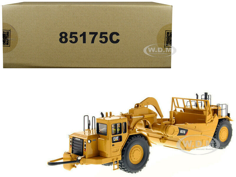 CAT CATERPILLAR 657 G WHEEL TRACTOR SCRAPER 1 50 MODEL DIECAST MASTERS 85175 C