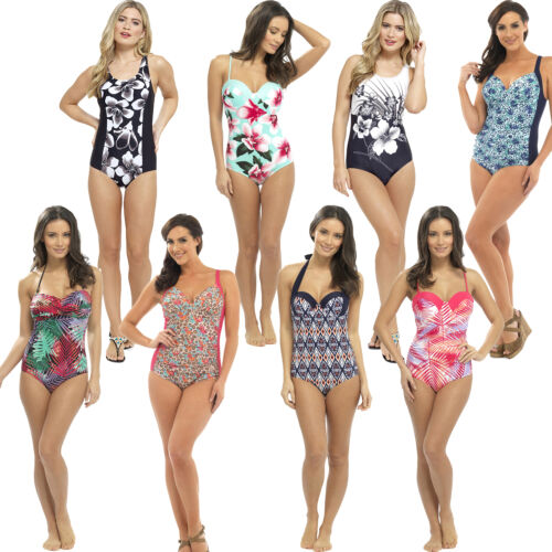 Ladies//Womens Padded Swimsuit//Swimming Costume Size 10,12,14,16,18,20,22 NEW
