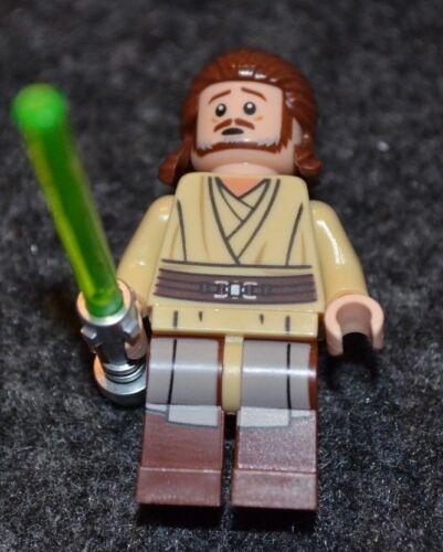 QUI-GON JINN MINIFIGURE ~ Star Wars Lego Series ~ New MINT~