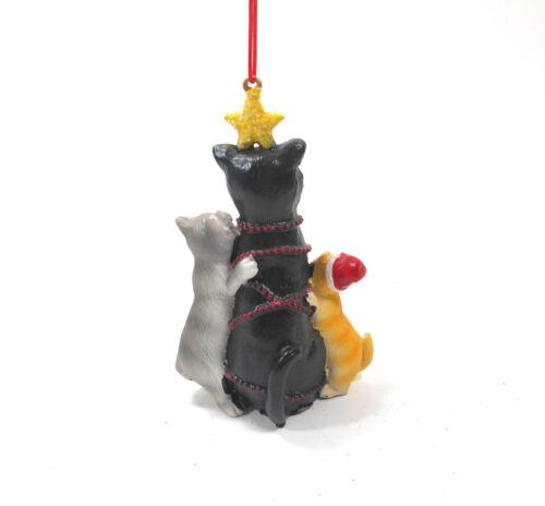 Midwest-CBK Kittens Decorating a Cat Ornament mw122914 Kitty