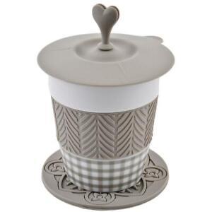 Gobelet-stylo-Porzellan-Silikon-15x10x8cm-Blanc-Gris-Tasse-de-Cafe-Design