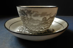 ENGLISH PORCELAIN CUP & SAUCER - PROBABLY NEWHALL - C.1810