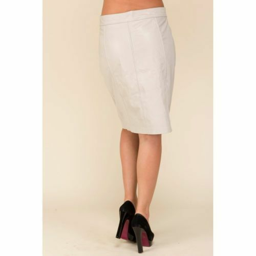 Nuevo Formal para mujeres cintura alta falda de cuero  Premium Soft Piel de Cordero blancoo S M L SR2  ahorra 50% -75% de descuento