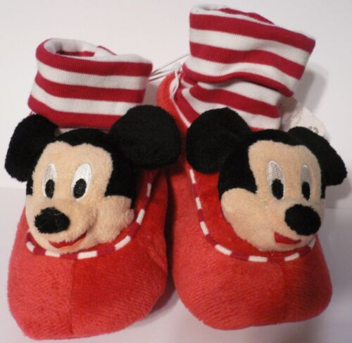 MICKEY MOUSE~Slippers~PLUSH~Costume~Baby~Striped~Infant~0-24M~Disney Store~2015