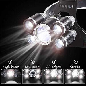 90000-Lums-Ultra-Bright-Headlamp-T6-5-LED-Headlight-4-Mode-Zoom-Head-Lamp