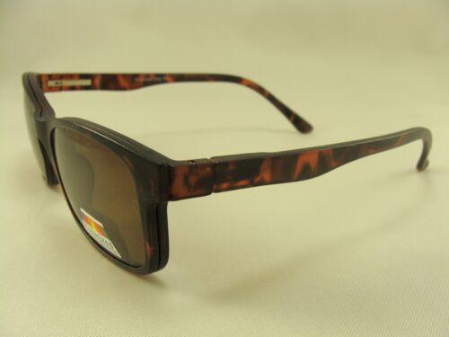 Polarized Bi-Focal Sunglass Clear Lens w//Magnetic Clip-on Choice Color//Strength
